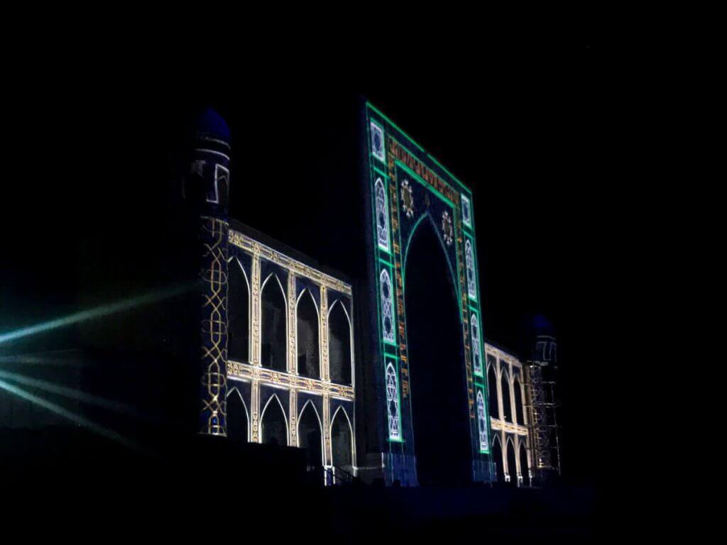 Light show at the Registan, Samarkand