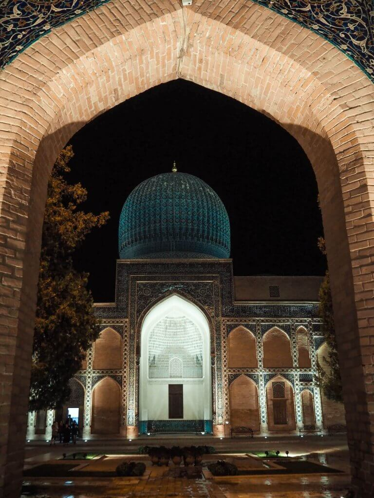 gate of Gur-e-Amir mausoleum, Samarkand