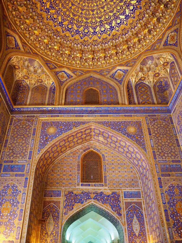 roof of Tilla Kari - best things to do in Samarkand