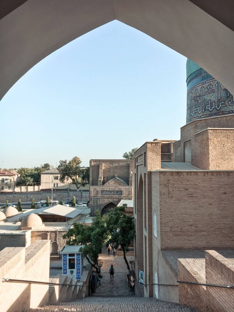 entrance of Chah-E-Zindeh - best things to do in Samarkand