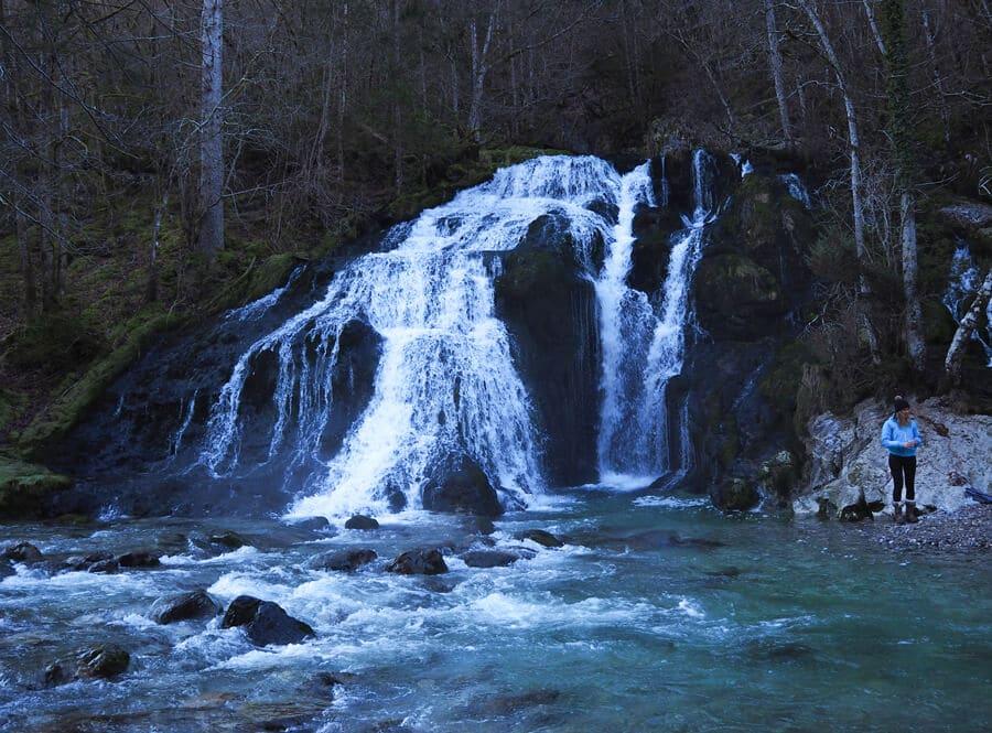 la cascade du Pissieu en hiver
