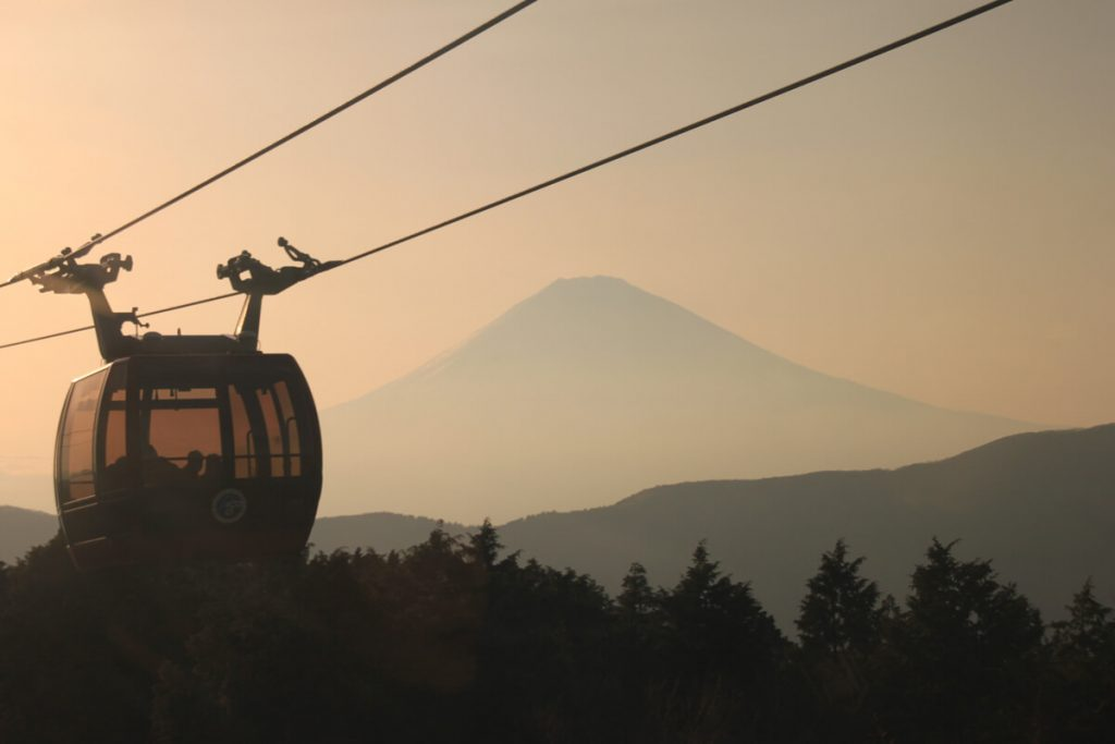 view of the mount Fuji from Hakone Ropeway