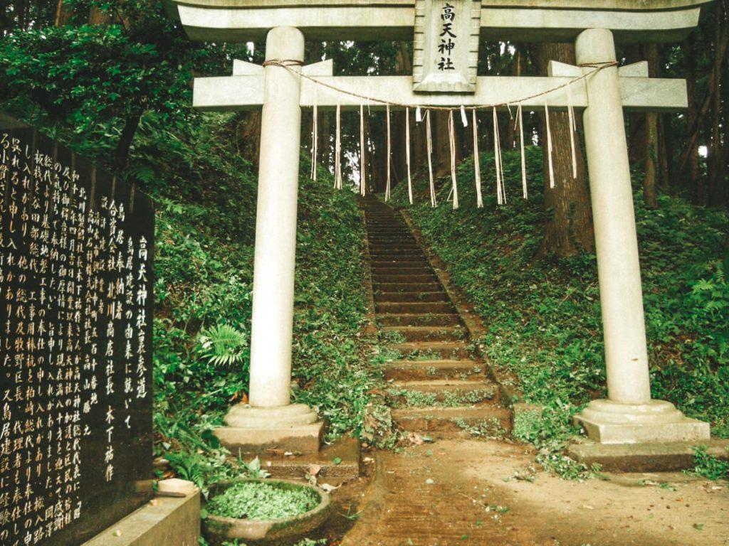 Torii, gate of Takaten jinja