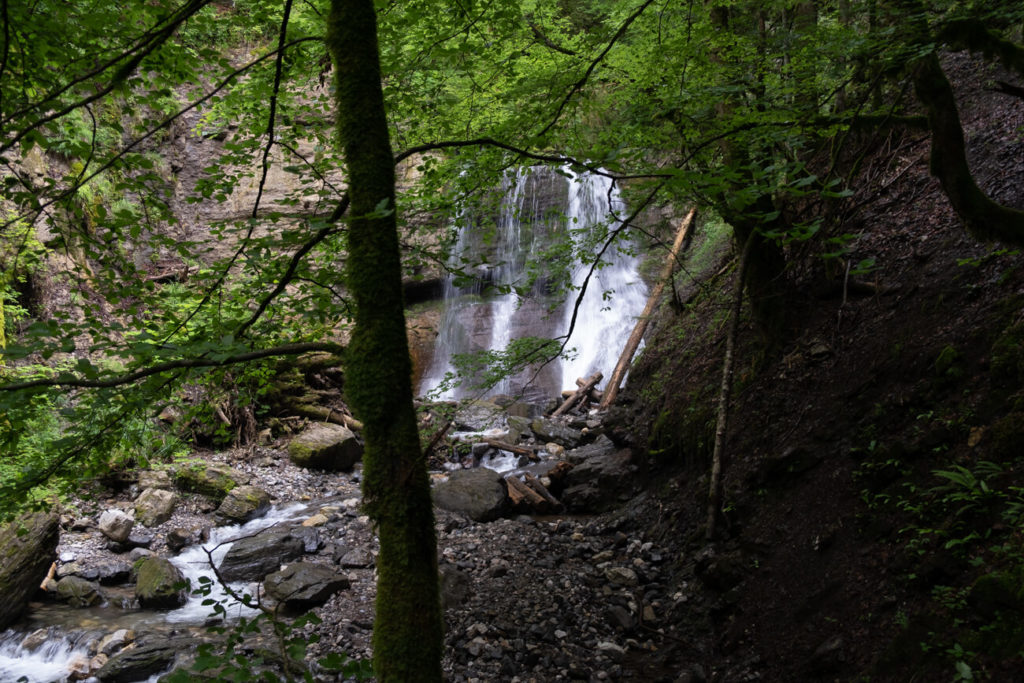 La cascade d'Alex vue du sentier