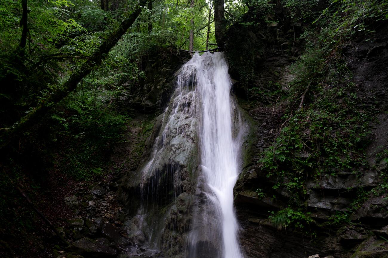 Cascades proches du lac d'Annecy - la cascade de Grattepanche