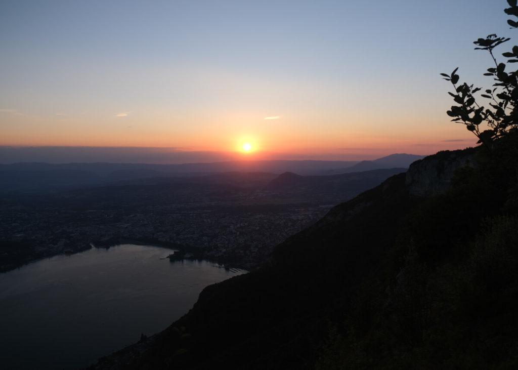 Coucher du soleil depuis le Mont Baron