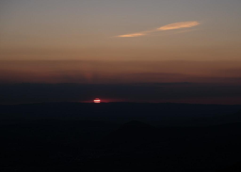 Coucher du soleil depuis le Mont Veyrier