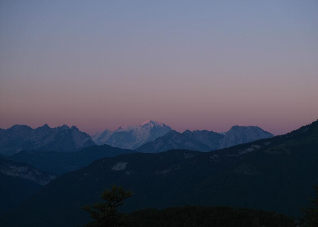 Vue du Mont Blanc depuis le Mont Veyrier