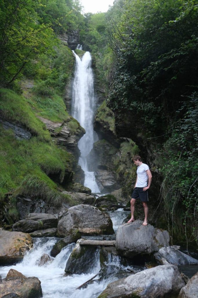 La base de la cascade de Chedde