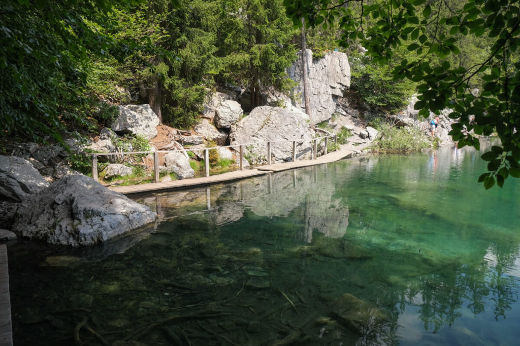 aménagement sur le lac vert de passy