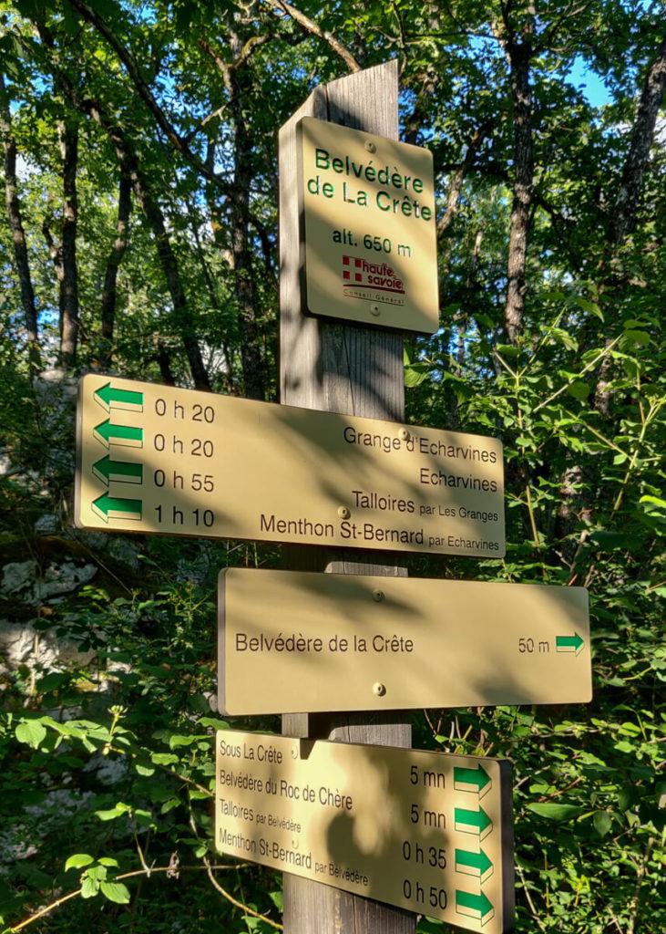 Panneau - la réserve naturelle du Roc de Chère