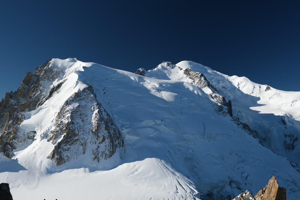 Le Mont Blanc du Tacul depuis l'Aiguille du Midi