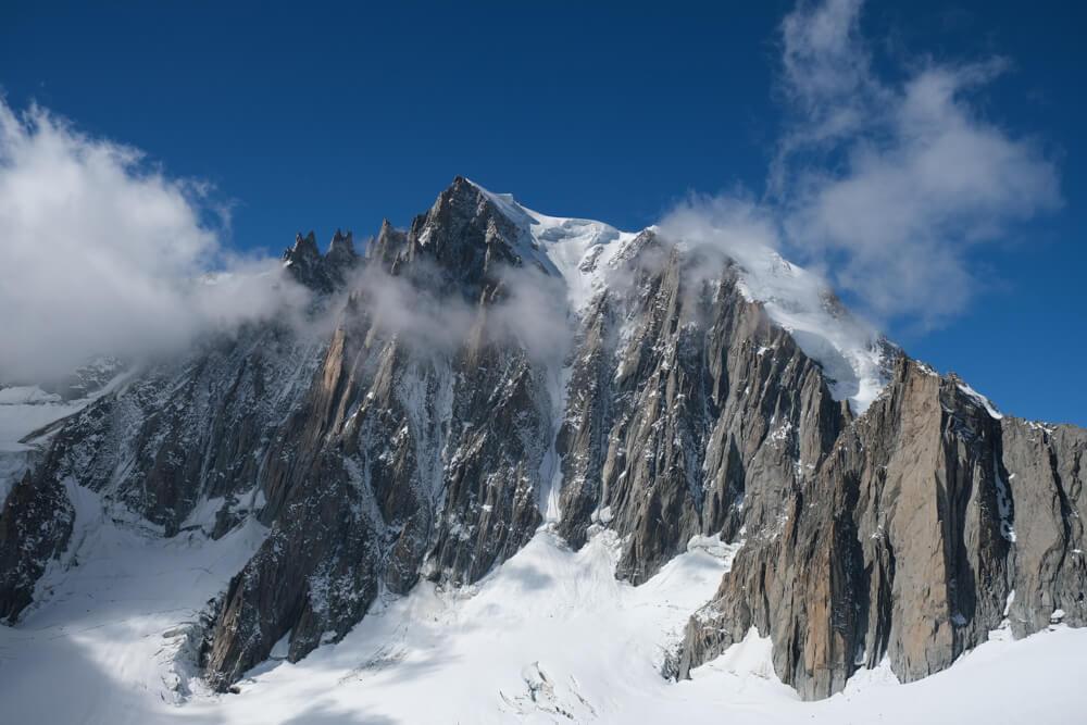 Le Mont Blanc du Tacul et les Aiguilles du Diable