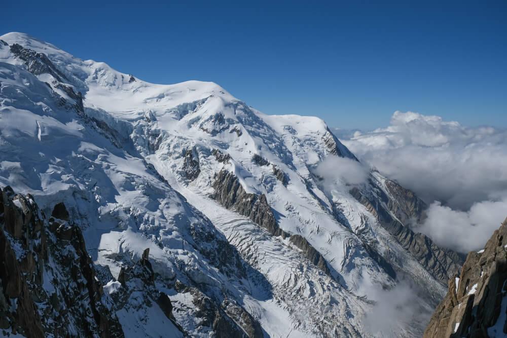 Le Tacul, Mont blanc, le dôme du Goûter, et aiguille du Goûter