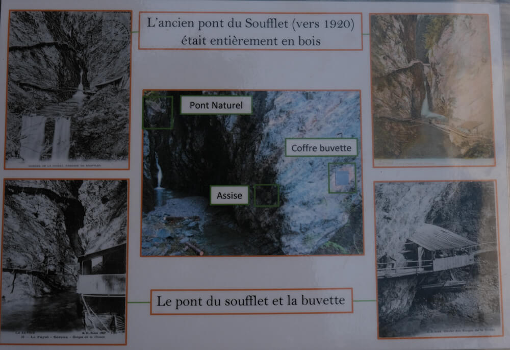 Les gorges de la Diosaz -  Cascade du soufflet en 1920