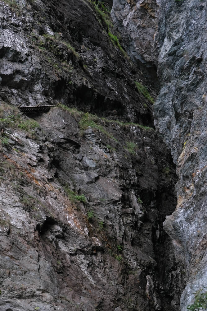 Les gorges de la Diosaz -  Passerelle de du Soufflet