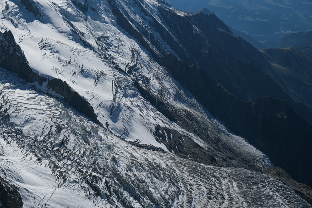 Le glacier des Bossons vue de l'Aiguille du Midi