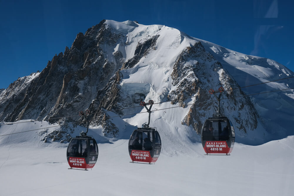 La télécabine du Panoramic Mont Blanc