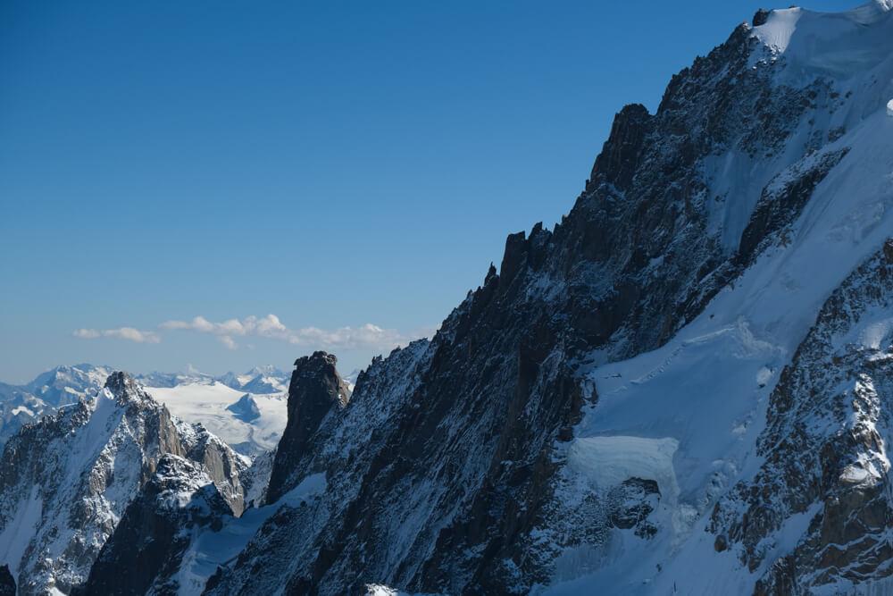 Vue depuis le téléphérique  - Aiguille du Midi