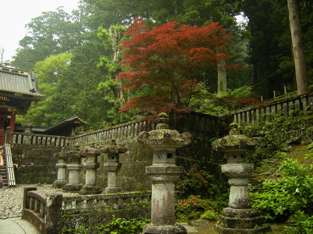 Lanternes du temple Taiyuin-Byo à Nikko