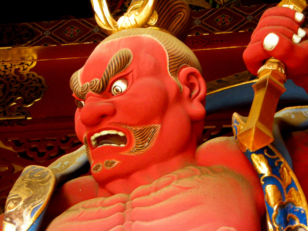Un Nio, divinité gardienne au sanctuaire du Toshogu à Nikko