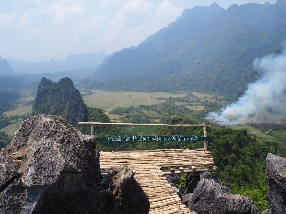 Point de vue depuis Nam Xay, Vang Vieng