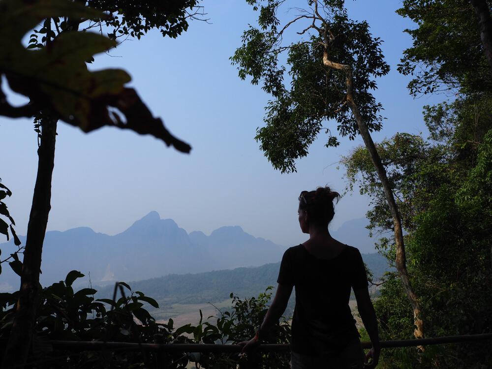 Forêt sur le pain de sucre Pha Ngern. vang Vieng