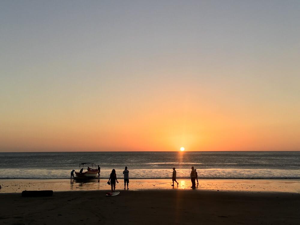 la plage de Popoyo au Nicaragua