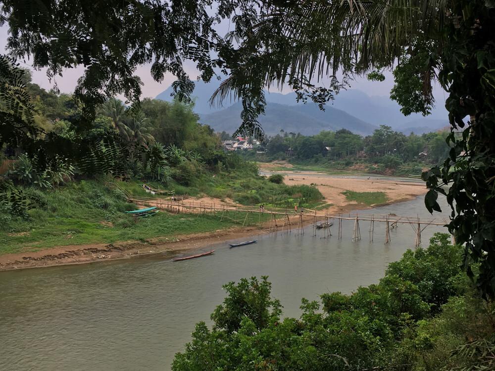 Pont en bambou - incontournable de Luang Prabang