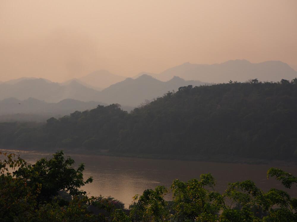 Coucher du soleil de puis le Mont Phu Si