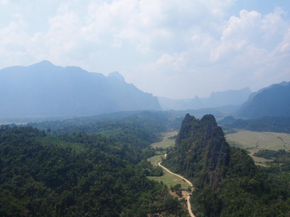 Points de vue depuis Nam Xay, Vang Vieng