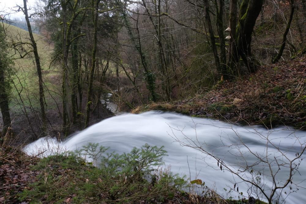 partie supérieure de la cascade d'Eilloux