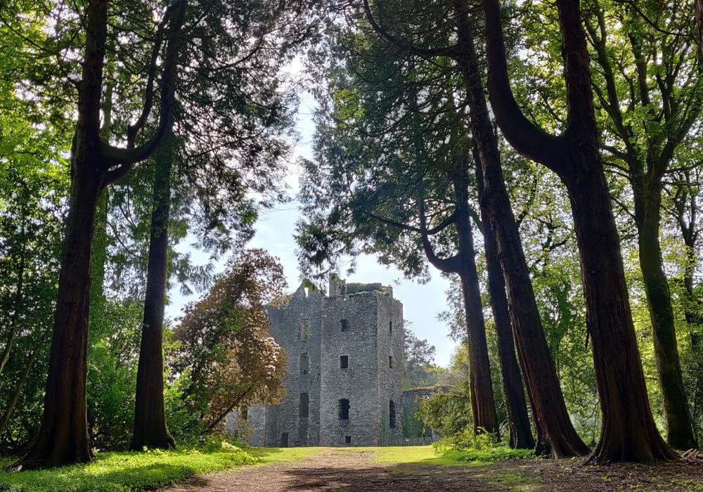 Les ruines du chateau Castle Kennedy, Ayrshire